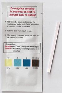 alcootest à analyse salivaire