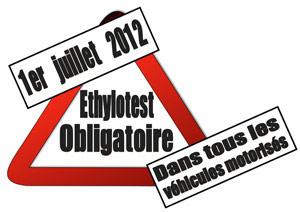 report amende éthylotest 1er mars 2013