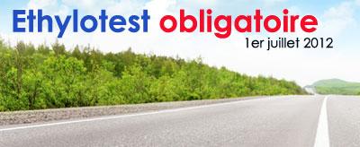 site sur l'éthylotest obligatoire à partir du 1er juillet 2012